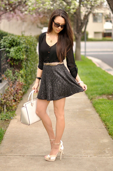 hapa time shoes bag jewels sunglasses t-shirt skirt belt