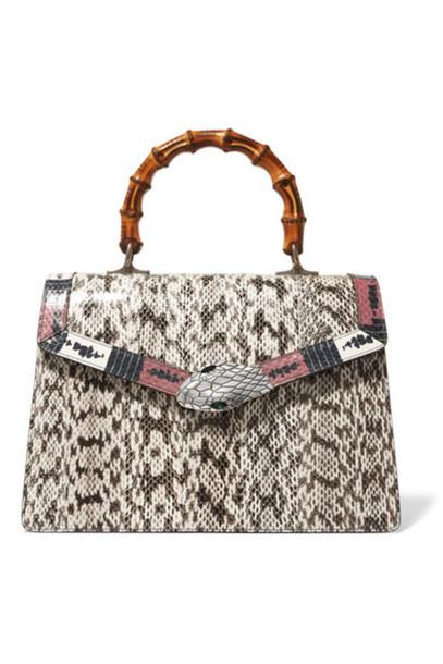 embellished beige bag