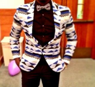 jacket blazer vintage white blazer white jacket aztec print coat aztec aztec pattern aztec sweater blue blazer blue jacket black blazer black jacket cardigan vintage blazer vintage african print african african style