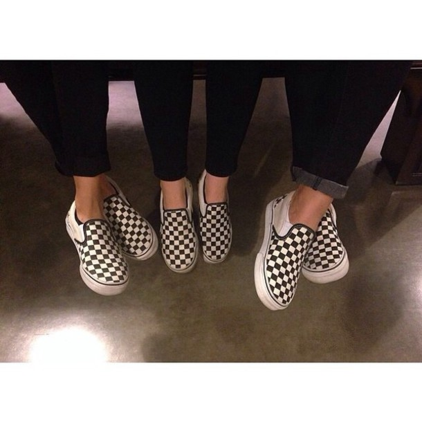 Suede Checkers Classic Slip On Shoes