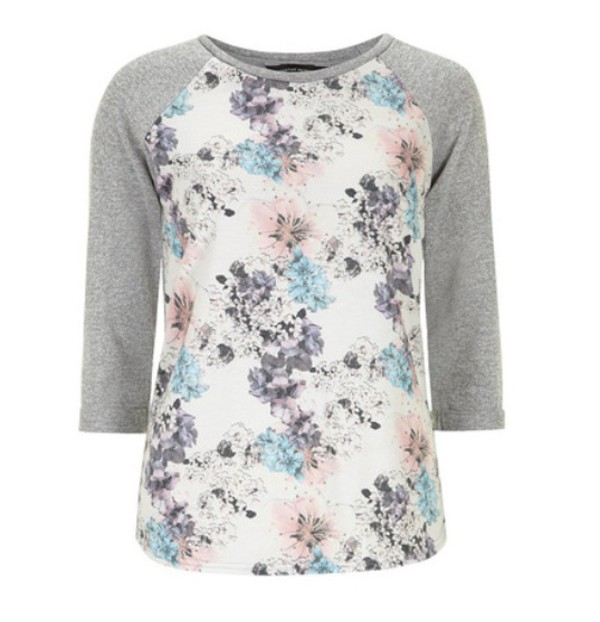 blouse floral floral shirt sweater cute