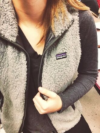 cardigan vest fur