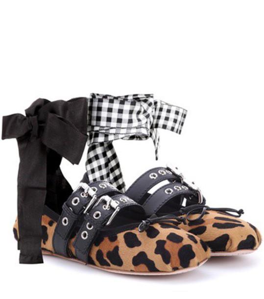Miu Miu hair brown shoes