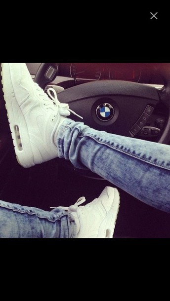 shoes sneackers nike white shoes air force  air max jeans bmw nike luxury