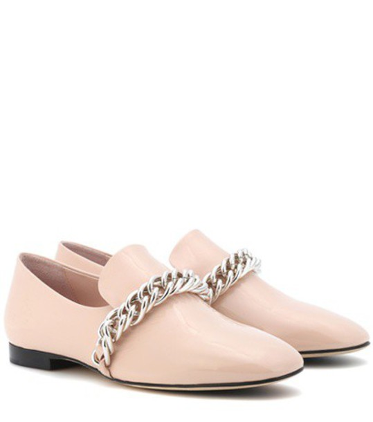 Christopher Kane Patent leather slippers in pink