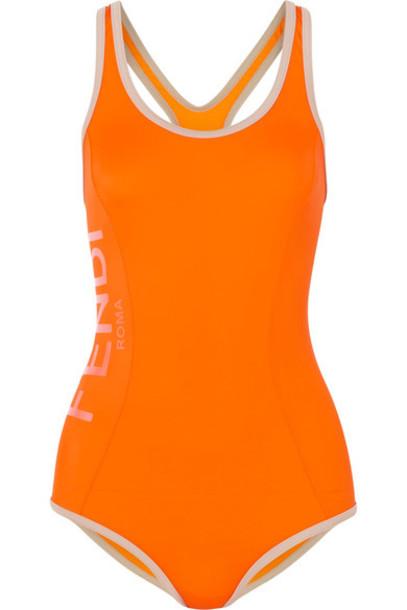 Fendi orange swimwear
