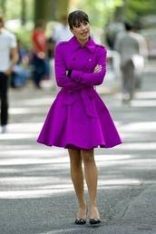 jacket,coat,bright purple