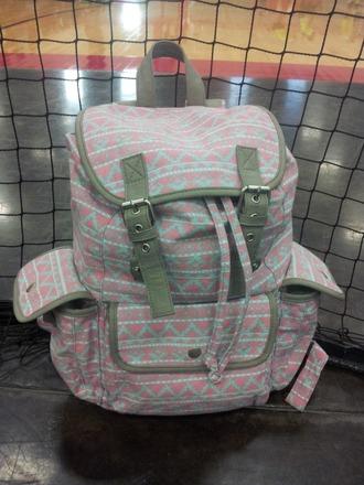 bag pink and blue aztec bag cute bag