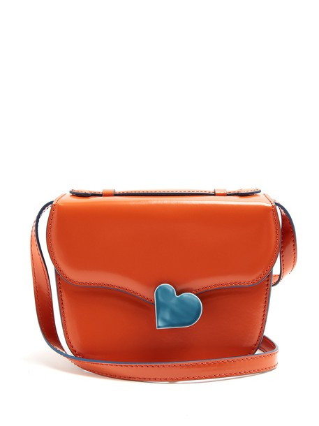 cross mini midi bag leather orange