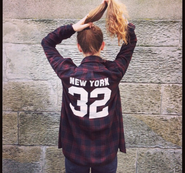 shirt clothes new york city 32 square square blouse squared shirt red blue and red shirt blue and red red and blue top flannel
