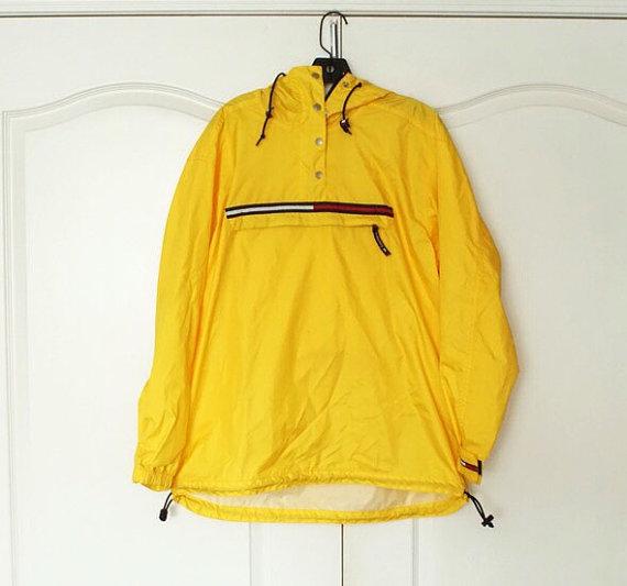HILFIGER 90's Vintage Windbreaker Jacket Pullover Large