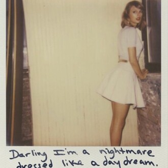 dress white cream short sleeved taylor swift dress