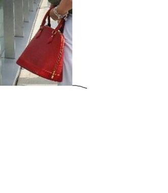 red bag bowling bag louis vuitton