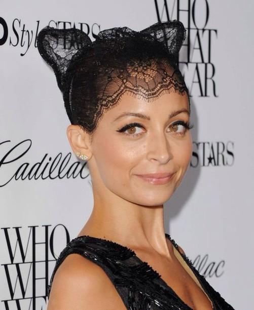 jewels lace cat ears