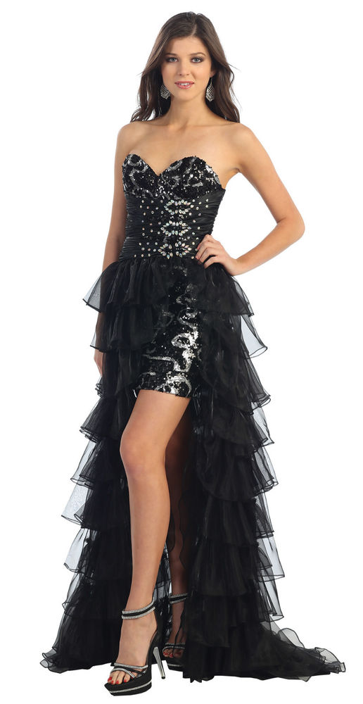 Special Occasion Semi Formal Dress Sexy Short Prom Gown 2 In 1