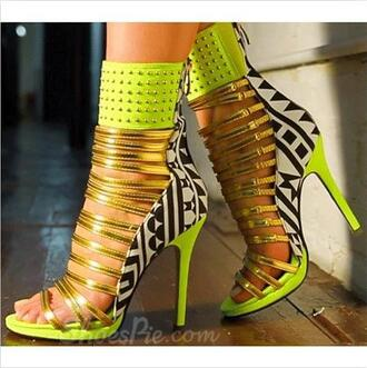 shoes neon jellow aztec print design vogue high heels summer tumblr tumblr outfit sneakers feet jewelry boho bohemian grunge vintage