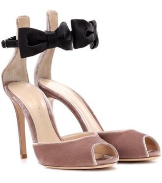 sandals velvet satin shoes