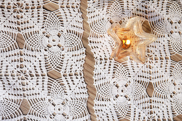 lace romantic white lace vintage tank top crochet homeliving shabby chic coffee table lacework home decor home 1980s crochet lace clothes: wedding
