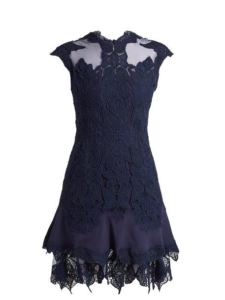 Jonathan Simkhai dress lace dress mesh lace blue