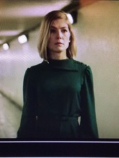 dress,green,rosamund pike,massive attack