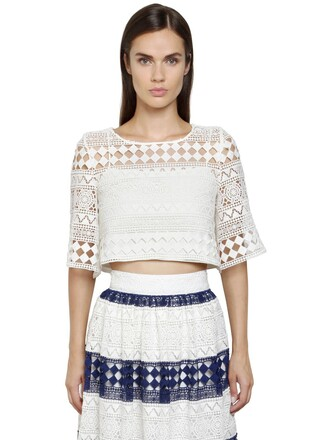 top cropped cotton white
