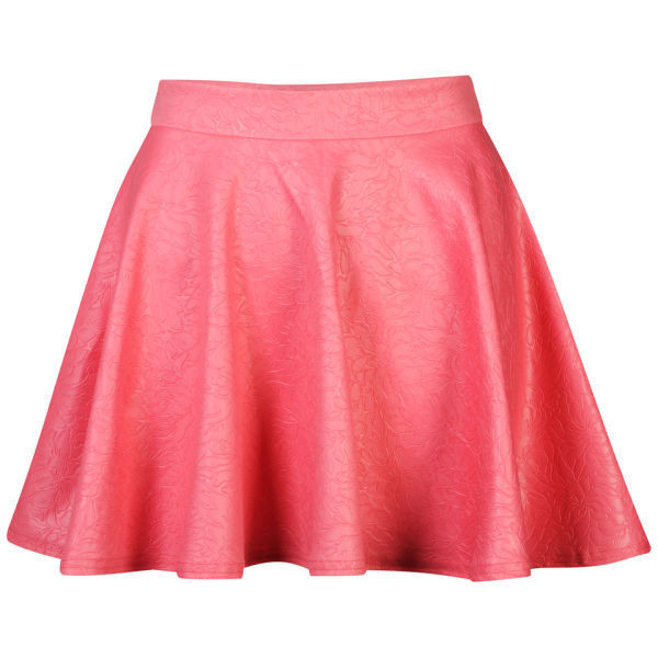 Club L Women's Embossed Skater Skirt - Polyvore