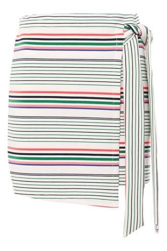 skirt wrap skirt white bright