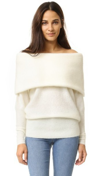 23849dda953d Acne Studios Daze Mohair Sweater - Pearl White - Wheretoget