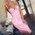 Faux Leather Midi Dress Pink