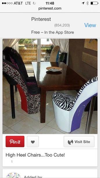 Stilettochair, Highheelchair, Stilettos, Chair, Chair, Animal Print,  Stiletto Chair, High Heel Chair, Animalprint   Wheretoget
