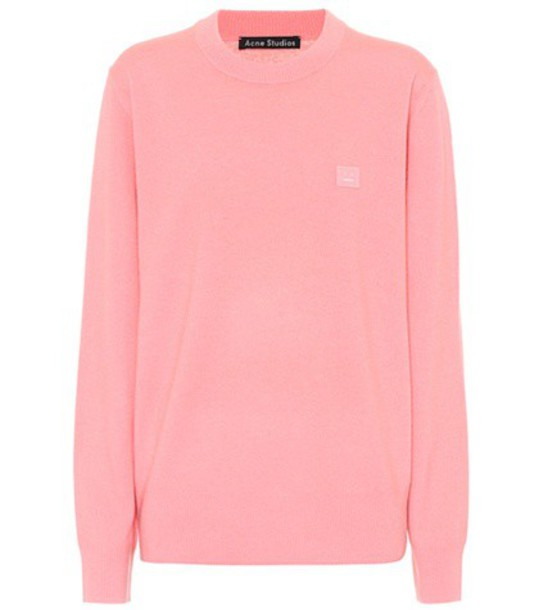 Acne Studios sweater wool sweater wool pink