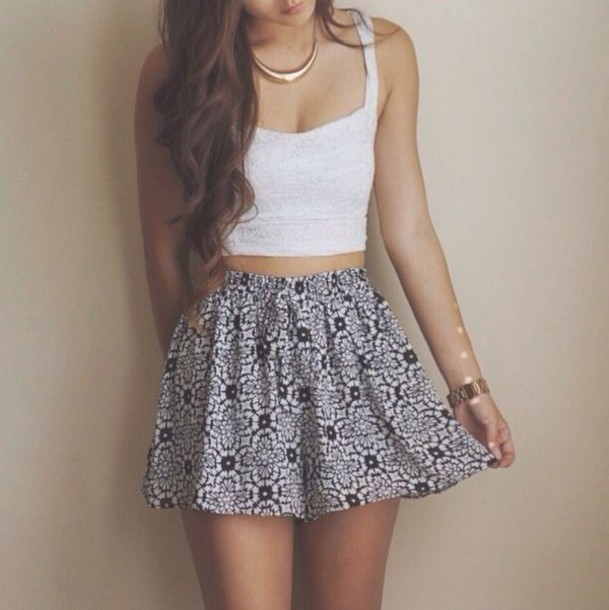 skirt trendy pattern patterned skirt shirt
