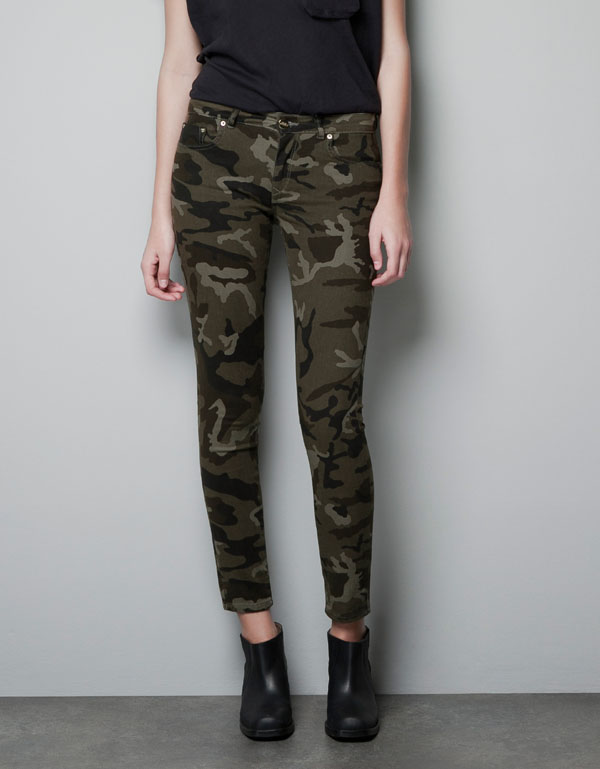 Free shipping Popular women's Camouflage pants slim elastic Camouflage pants military pants pencil pants  DI223-inPants & Capris from Apparel & Accessories on Aliexpress.com