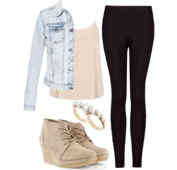 jacket shoes blouse jeans
