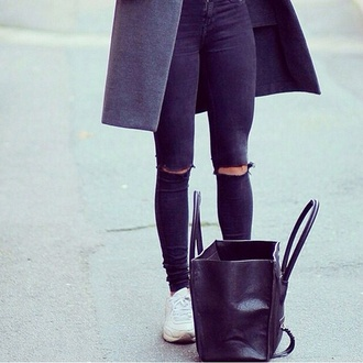 jeans ripped jeans bag