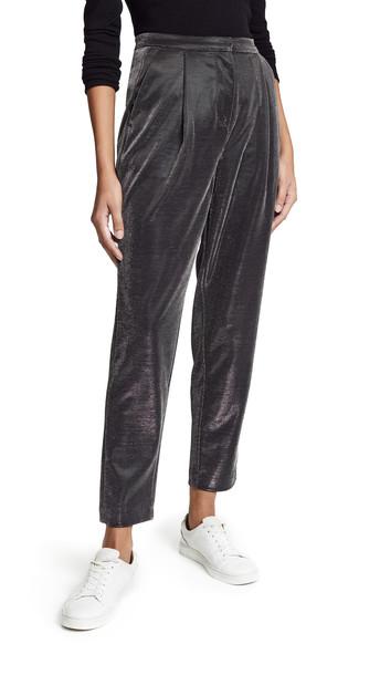 pants silver black