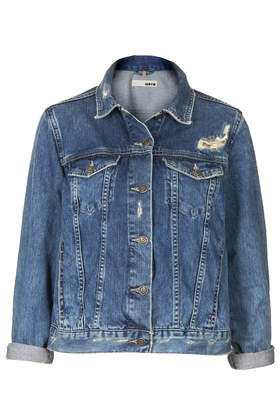 MOTO Vintage Wash Denim Jacket - Denim - Clothing - Topshop
