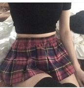 skirt,checked shirt,plaid skirt,tennis skirt,school uniform