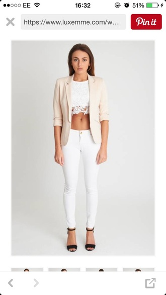 jacket blazer cream blazer white blazer cream jacket white jacket
