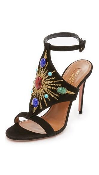 sun sandals black shoes