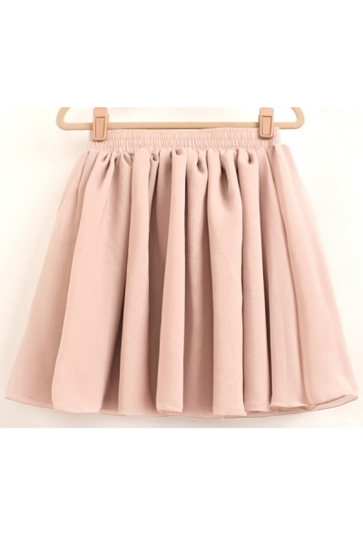 Candy Color Skater Skirt - OASAP.com