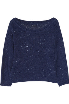 Embellished knitted cotton