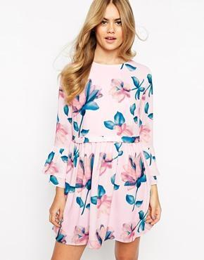 Dahlia dress in soft floral print at asos
