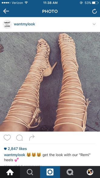 shoes nude heels strap up kim kardashian