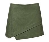 skirt,olive green,army green,envelopeskirt,mini skirt