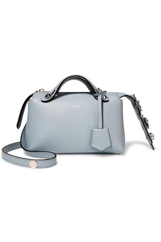 mini bag shoulder bag leather blue sky blue