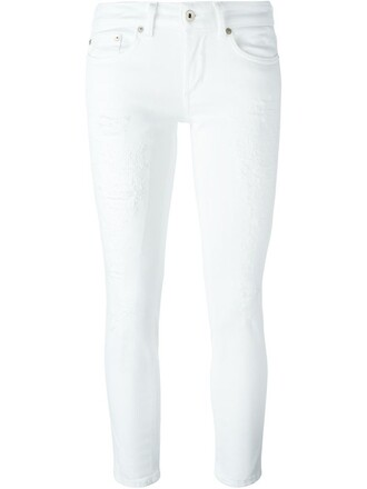 jeans women spandex white cotton