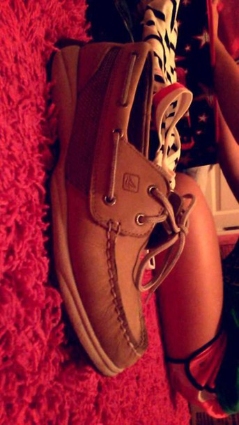 shoes regular tan sperrys