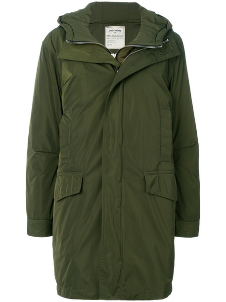 Zadig & Voltaire parka women green coat