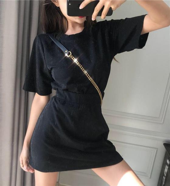 dress girly black dress black mini dress mini